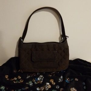 Vera Bradley Brown Quilted Bag.  Practical & Cute